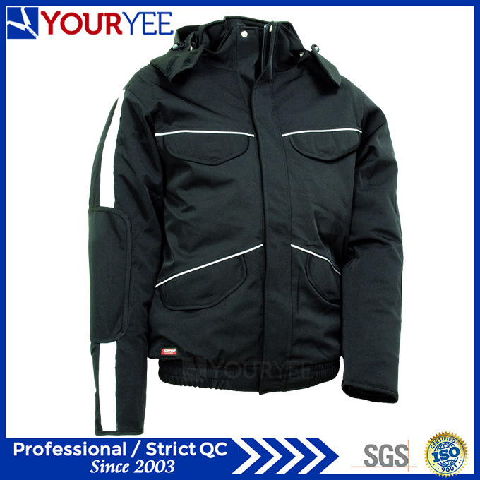 Popular Affordable Warm Waterproof Winter Jacket with Detachable Hood (YFS115)