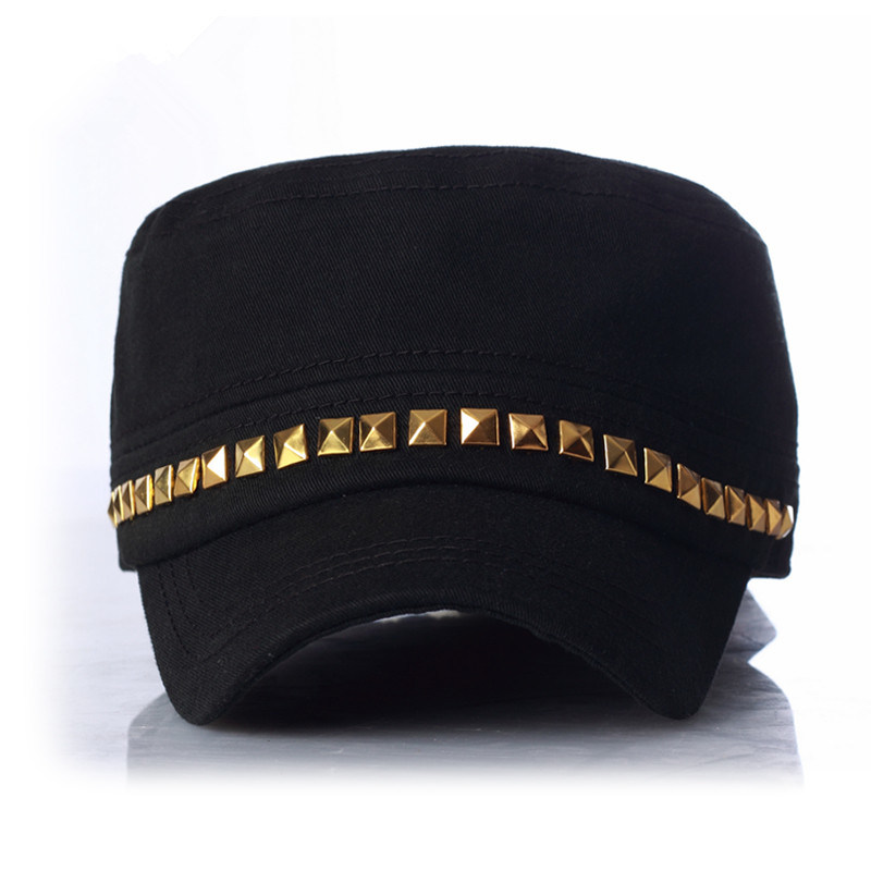 Punk Street Fashion Army Reviot Military Lady Cap