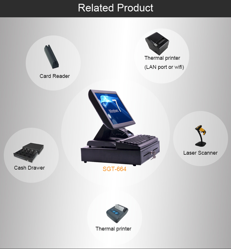 Full Set Touch Screen POS System Terminal