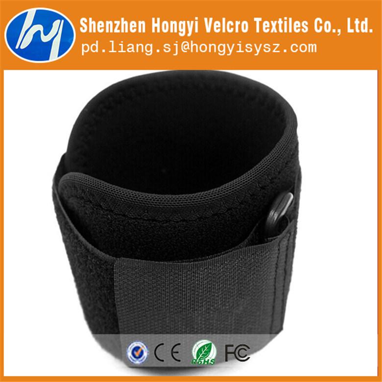 Nylon Durable Adjustable Black Elastic Loop Velcro Tape for Hand