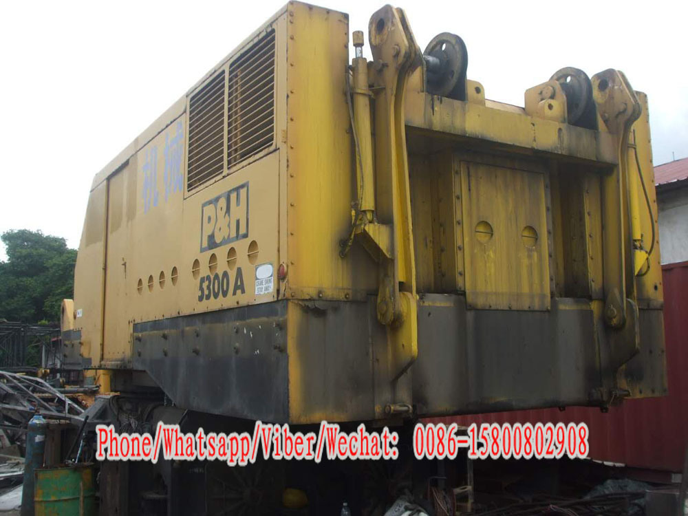 Used Kobelco 300t Cralwer Crane Kobelco P&H 5300A Crawler Crane for Sale