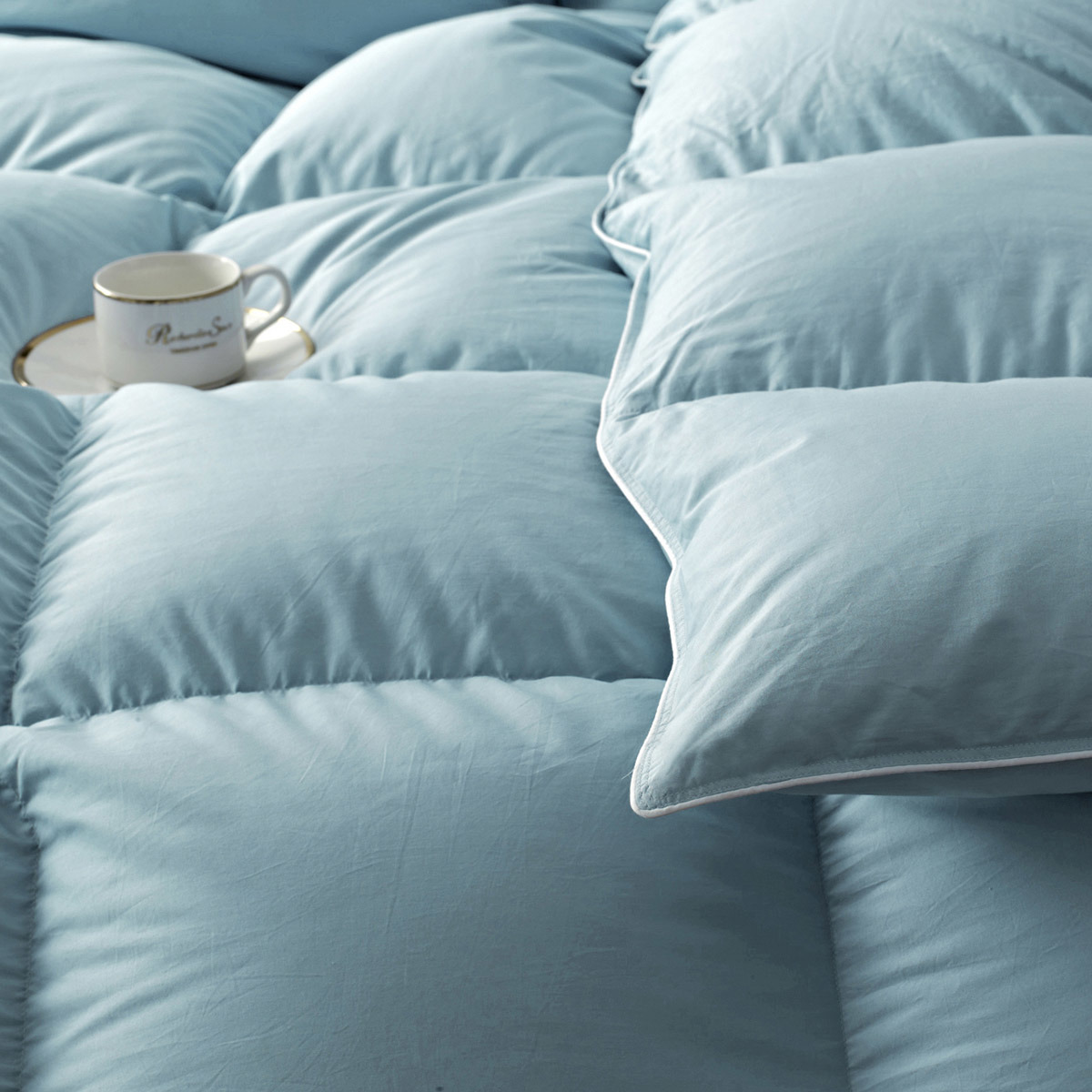 400t 100% Cotton Cover 95% White Goose Down Quilt