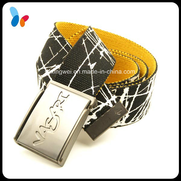 Custom Fashion Design Polyester Waistband Belts for Men