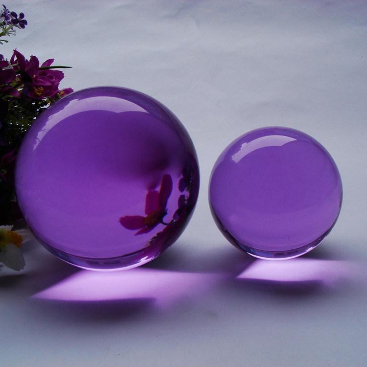 Cheap Crystal Balls Customized Crystal Glass Ball Decoration Ks120401