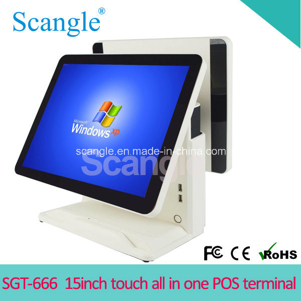 "Stylish 15"" Full Flat Touch Screen All in One POS Terminal"