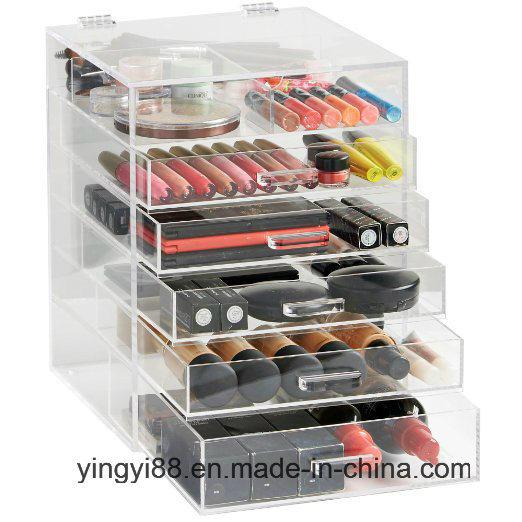 Custom Acrylic Makeup Organizer High Quality Acrylic Cosmetic Organizer