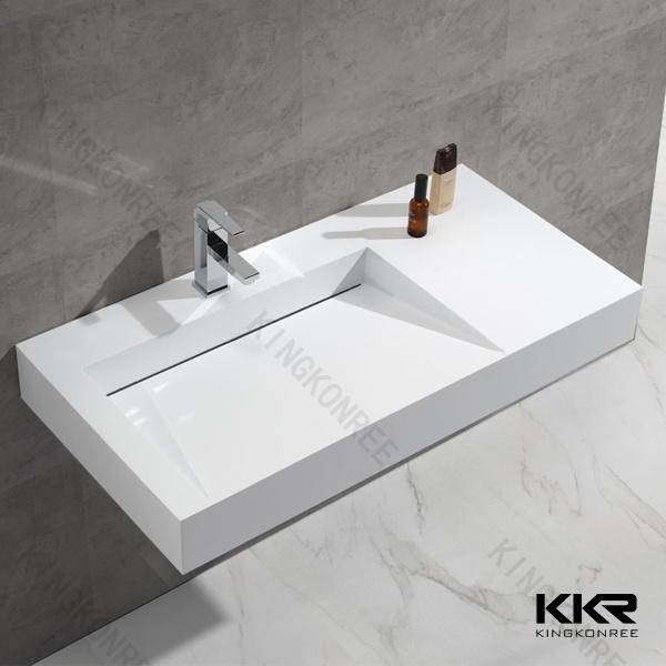 Sanitary Ware Solid Surface Stone Bathroom Cabinet Wash Basin (B1705221)