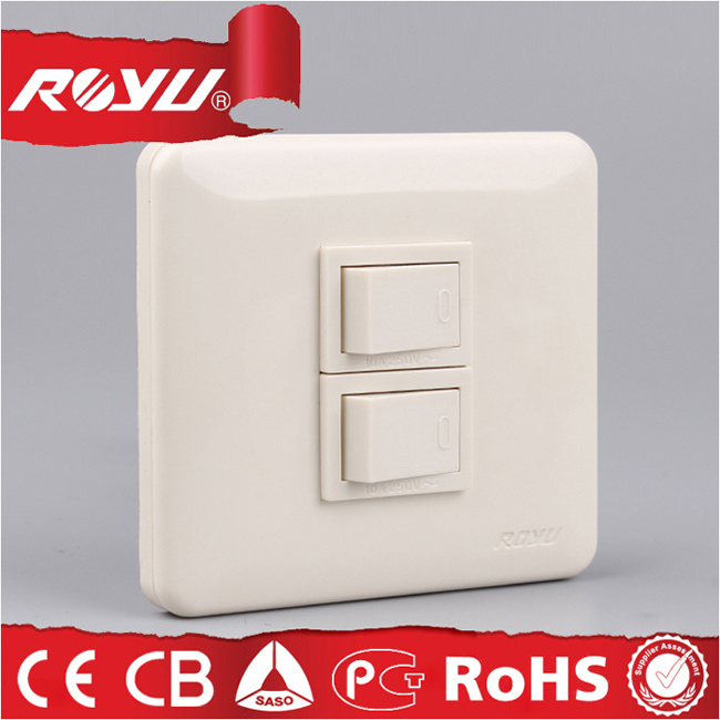 3*3 Inch Module Type Fast Way Wall Switch