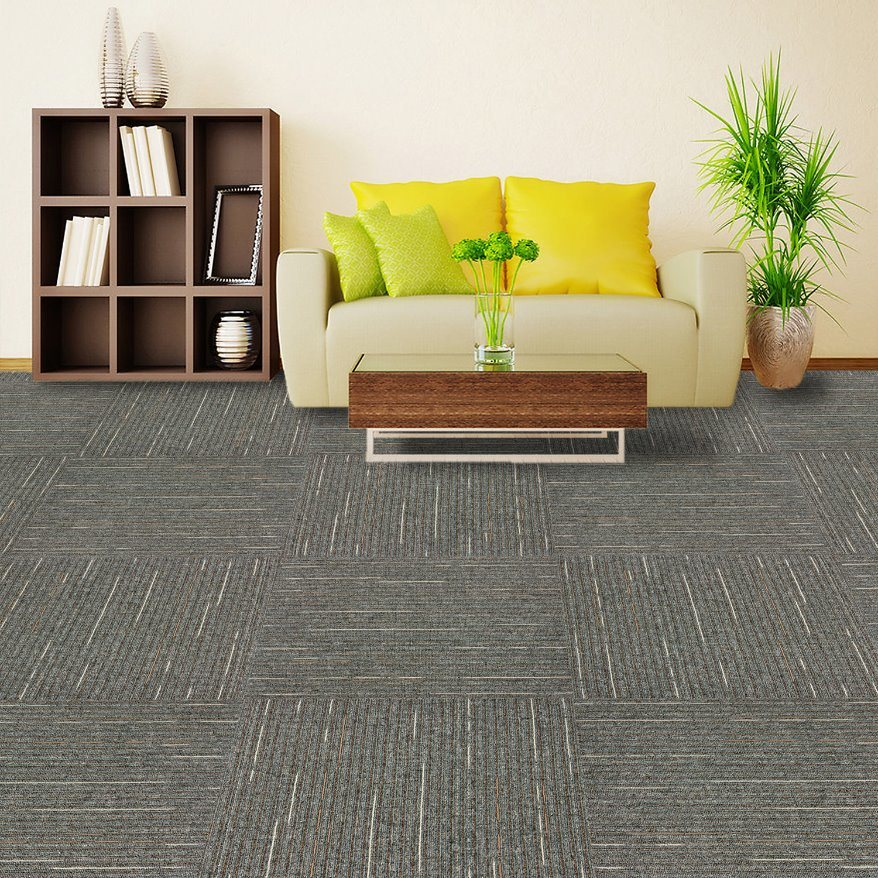 Rain -1/10 Gauge Office/Hotel/Home Carpet High &. Low Loop Jacquard Carpet Tile with Eco-Bitumen Backing