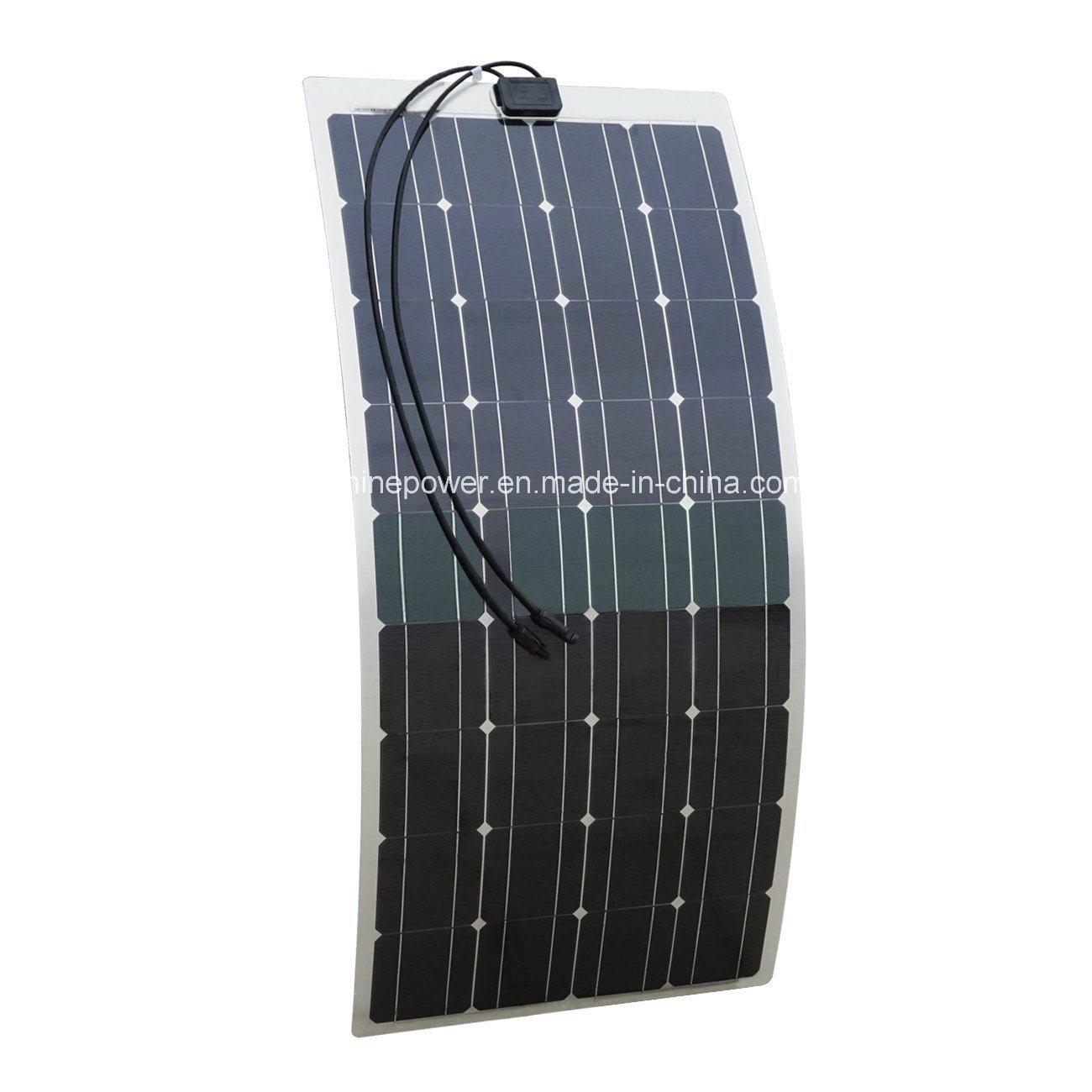 100W Semi-Flexible Solar Panel for Camper RV Yacht Home