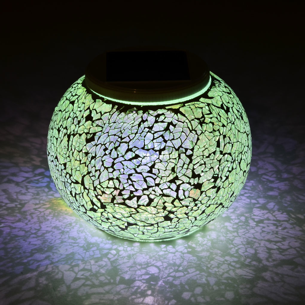 Colar Changing Solar Outdoor Mosaic Light