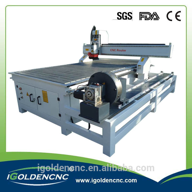 1325 1530 4 Axis CNC Router Wood Cutting Machine with Rotary Axis