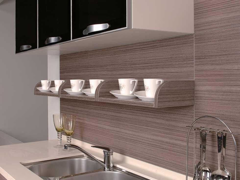 Mpderm Melamine Kitchen Cabinet (zg-026)