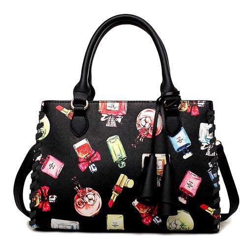 Wholesale Fashion Designer Hand Bag Printing Leather Handbag (XP1785)