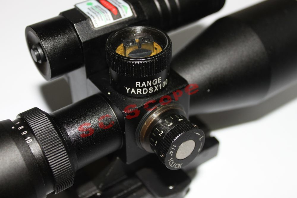 Vector Optics 2.5-10X40 Hunting Green Laser Riflescope with Mini Red DOT Scope Weapon Sight