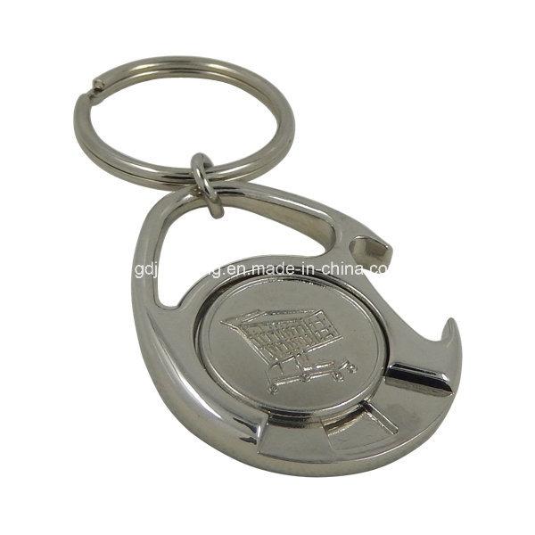 Custom Epoxy Zinc Alloy Bottle Opener Keychain