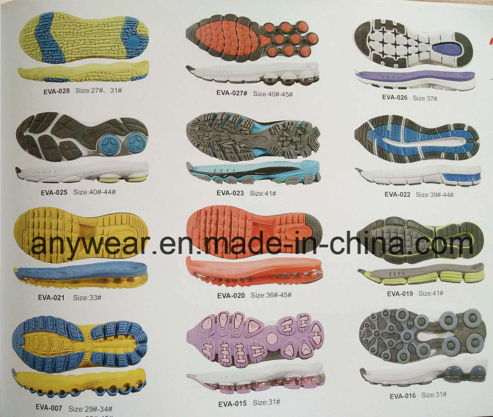 Comfort Sports Shoes Soles PU Phylon EVA Outsole (EVA F 17-22)