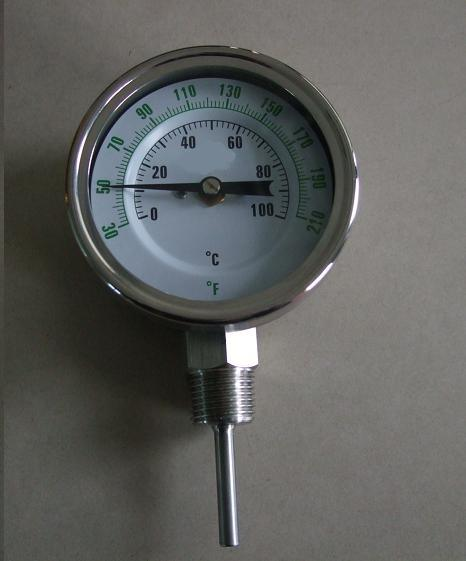 Industrial Bimetal Thermometers with Bottom Connection (LX-014-A)