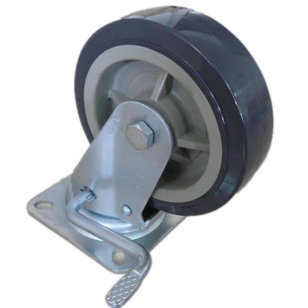 Wanda Medium Duty Total Brake Caster, PU Wheel