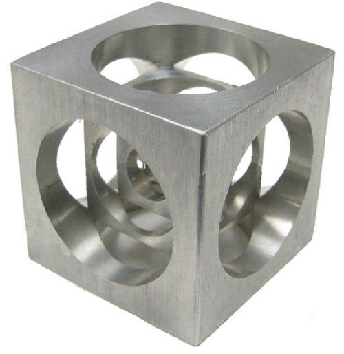 Metal Cube CNC Milling Part