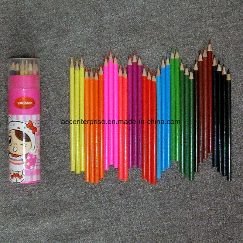 Color Pencil with Logo Printing on Pencil and Package