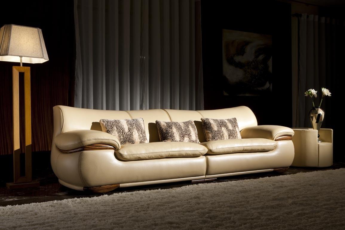 China Luxury Leather Sofa 2013 Solid Wood Leather Sofa