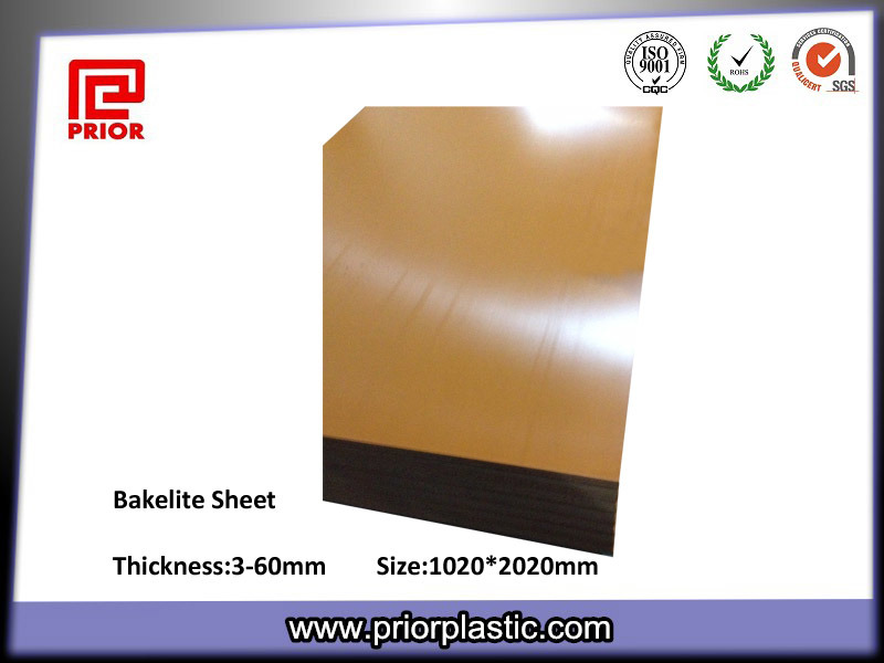 Orange and Black Bakelite Boards with 3-50mm Thickness