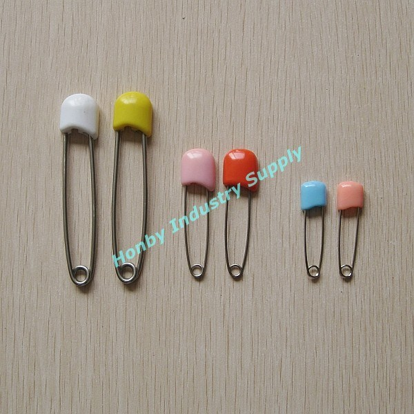 Wholesale Stainless Steel Plastic Head Baby Diaper Safety Pin