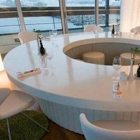 Stone artificial round table top para cafeteria stone - Limpiar piedra artificial ...
