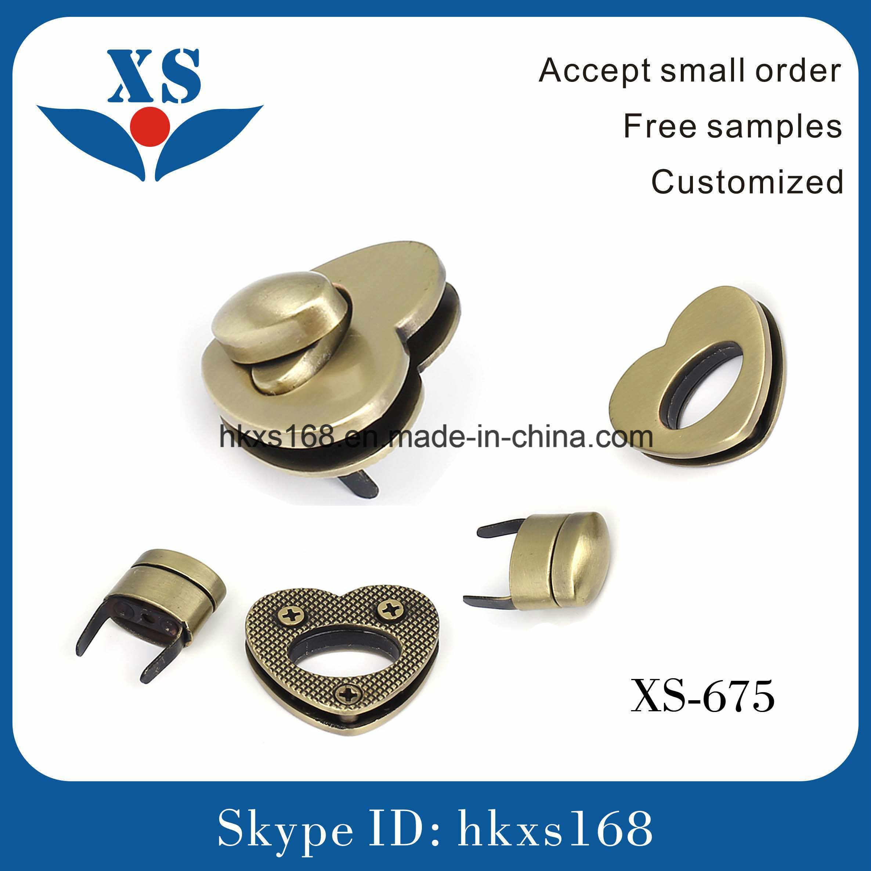 Fashion Brushed Anti-Brass Custom Bag Metal Clip Lock