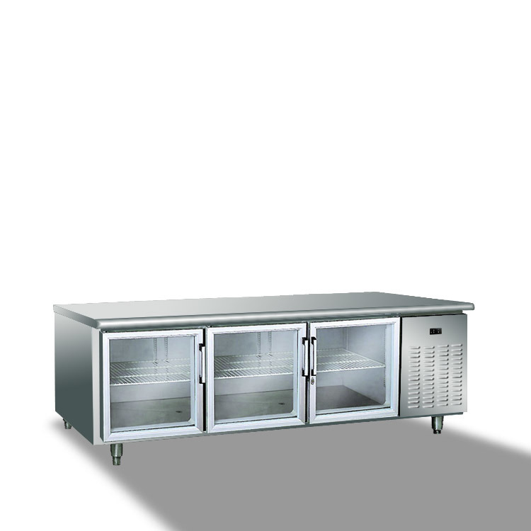 Ce Approval Commercial Stainless Steel Work Table Refrigerator Freezer