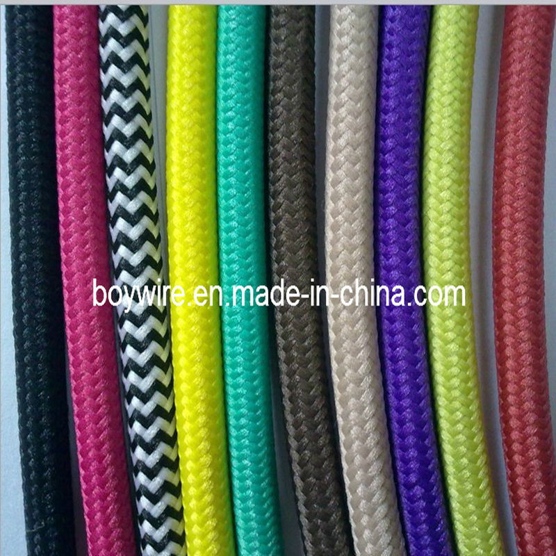 China Colorful Braided Cotton Sleeve Cable Bycot China