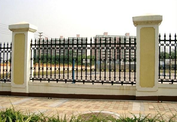 Garden Security Black Wrought Iron Fences Designs