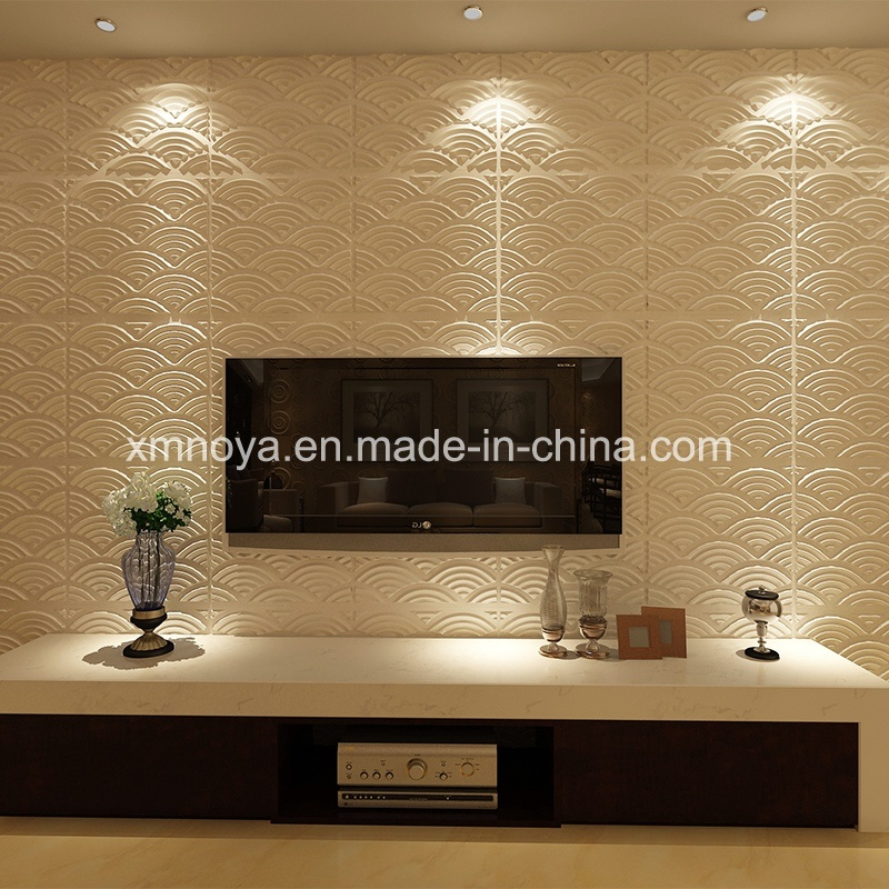 China sgs pvc 3d wall panel for living room tv background for Living wall panels