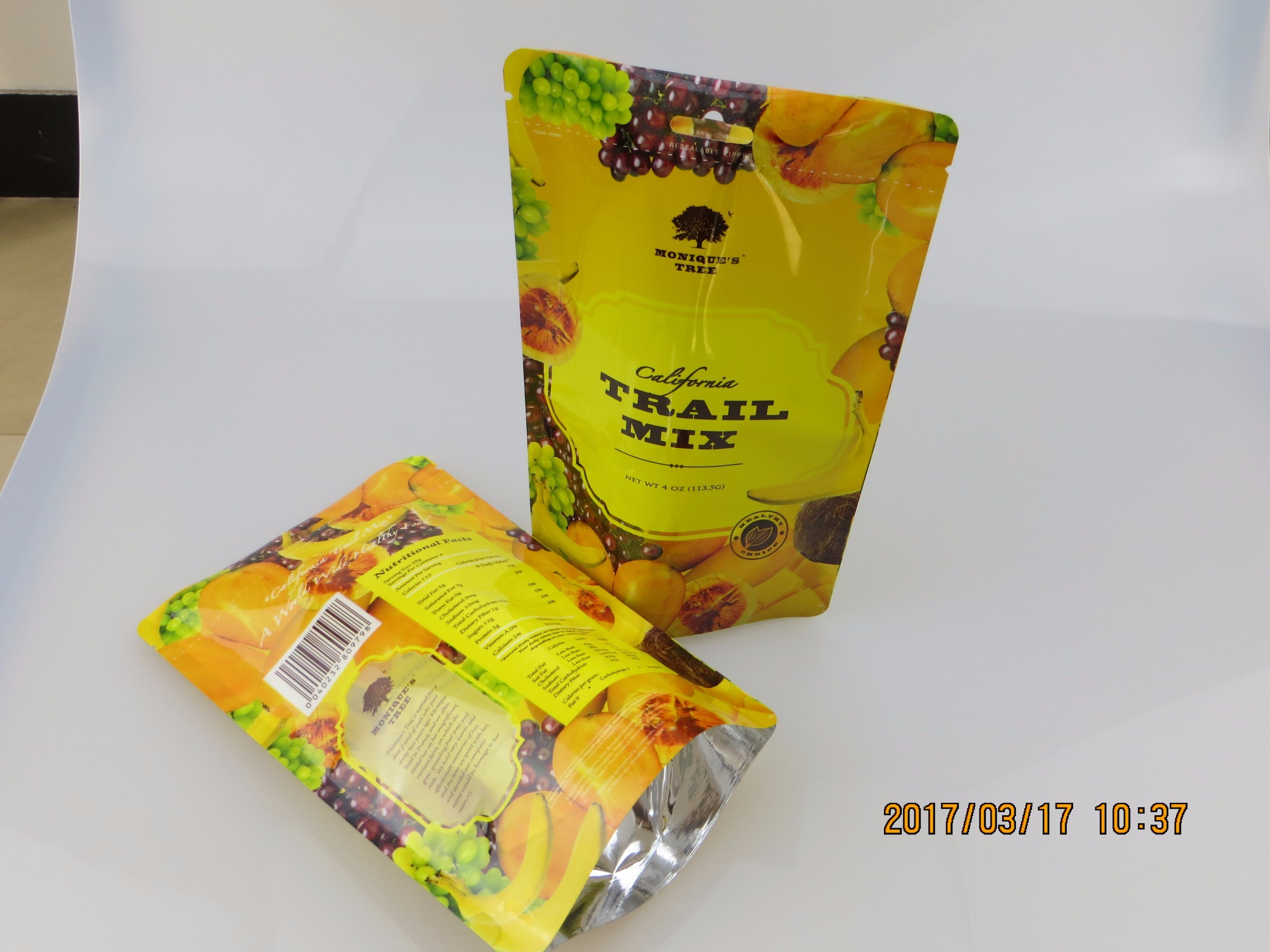 Stand-up Pouch Bag for Snack Food