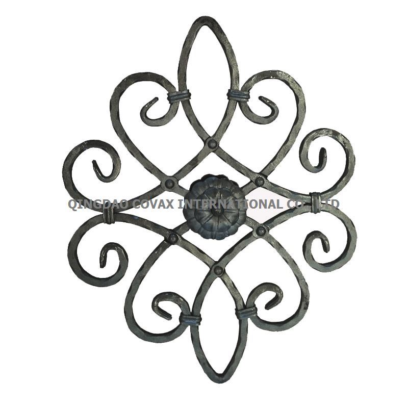 Decorative Flower Panel 11043 Wrought Iron Rosette