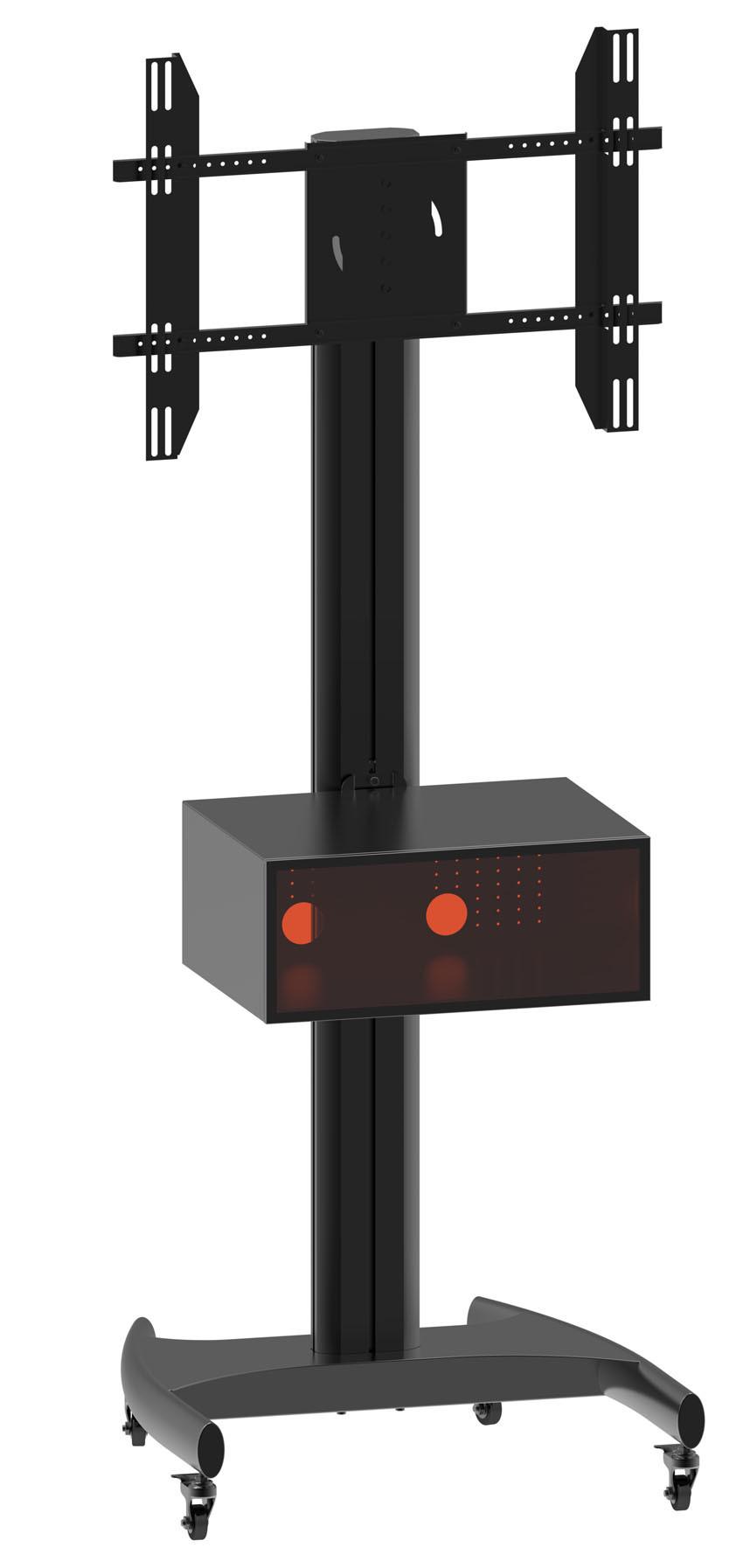 "Public TV Floor Stand Wheel Base 30-60"" Landscape & Portrait (AVB 106C)"