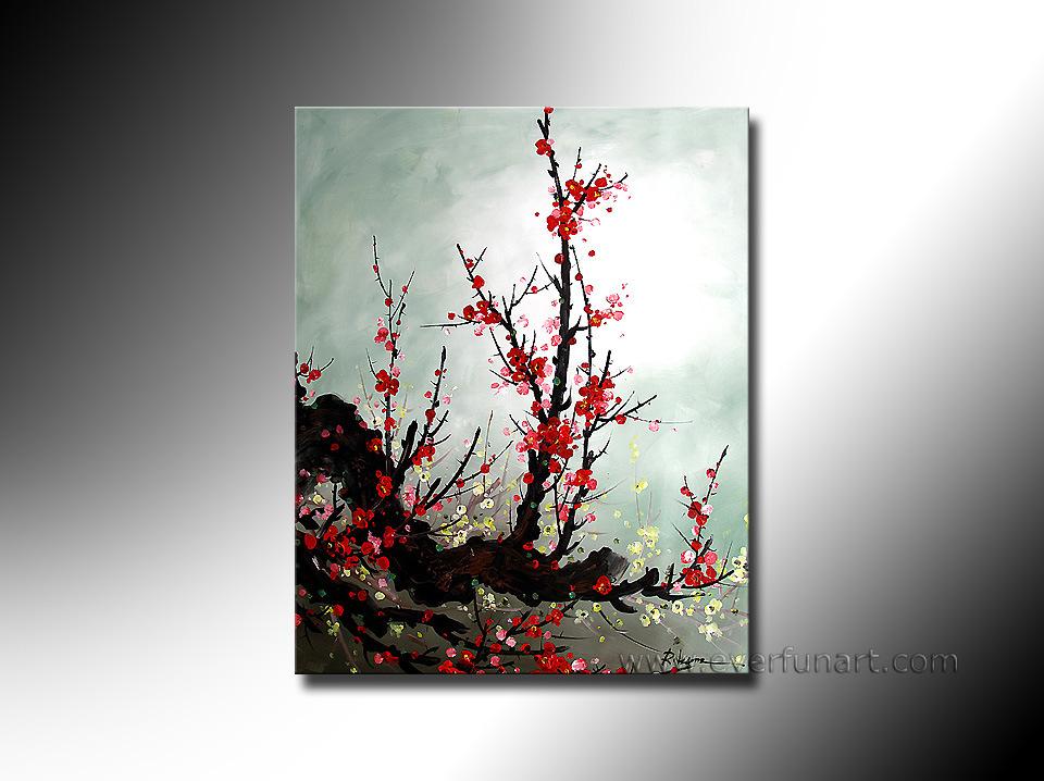 modern floral canvas art fl1023