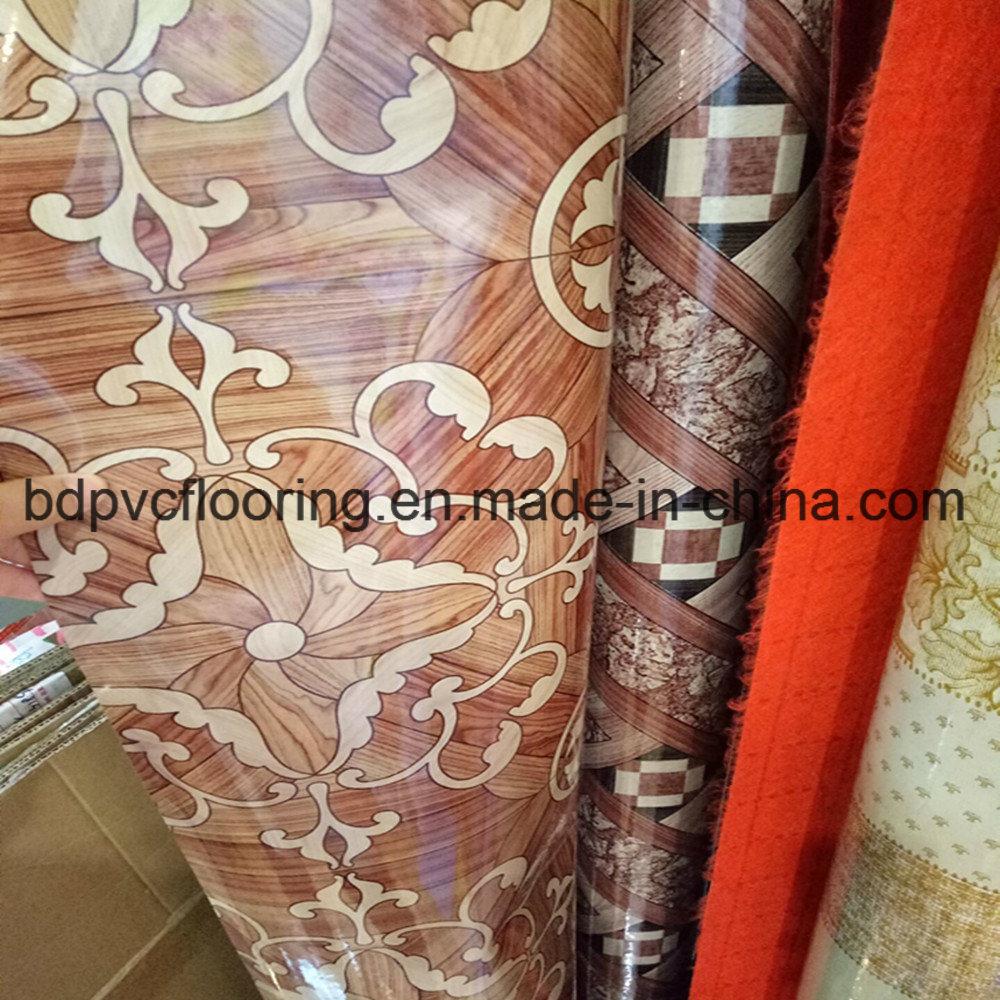 48kg Red Felt Back PVC Vinyl Flooring in Iraq