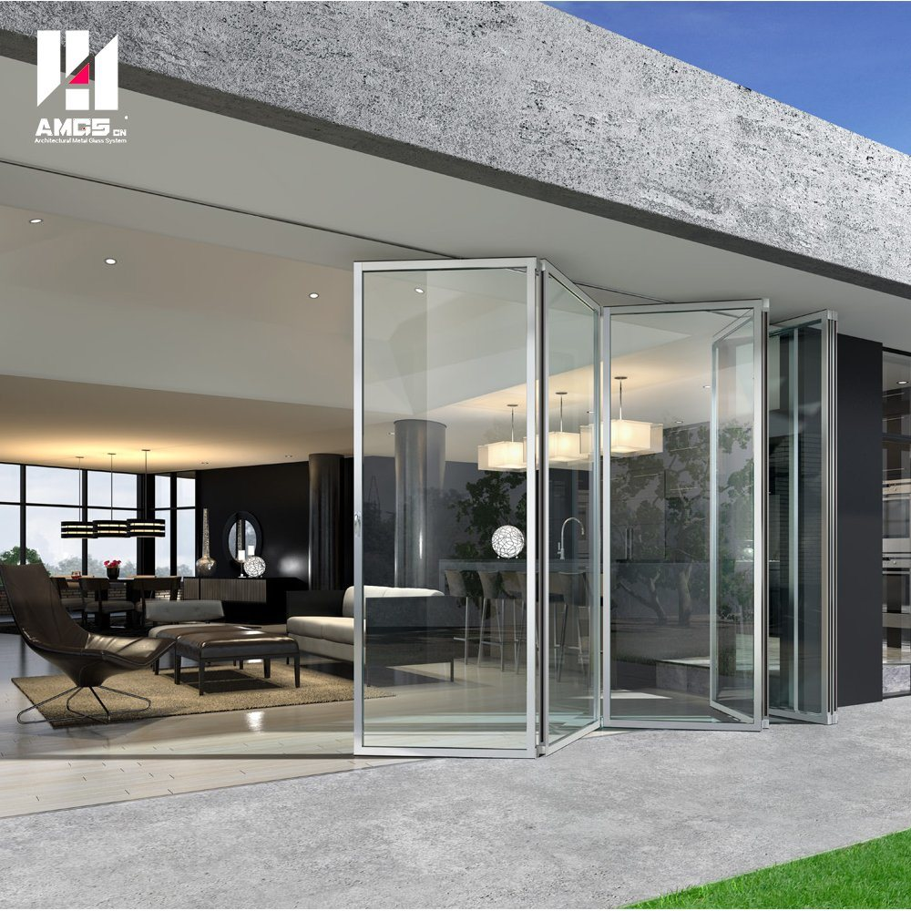 High Quality Double Glazed Aluminum Folding Door