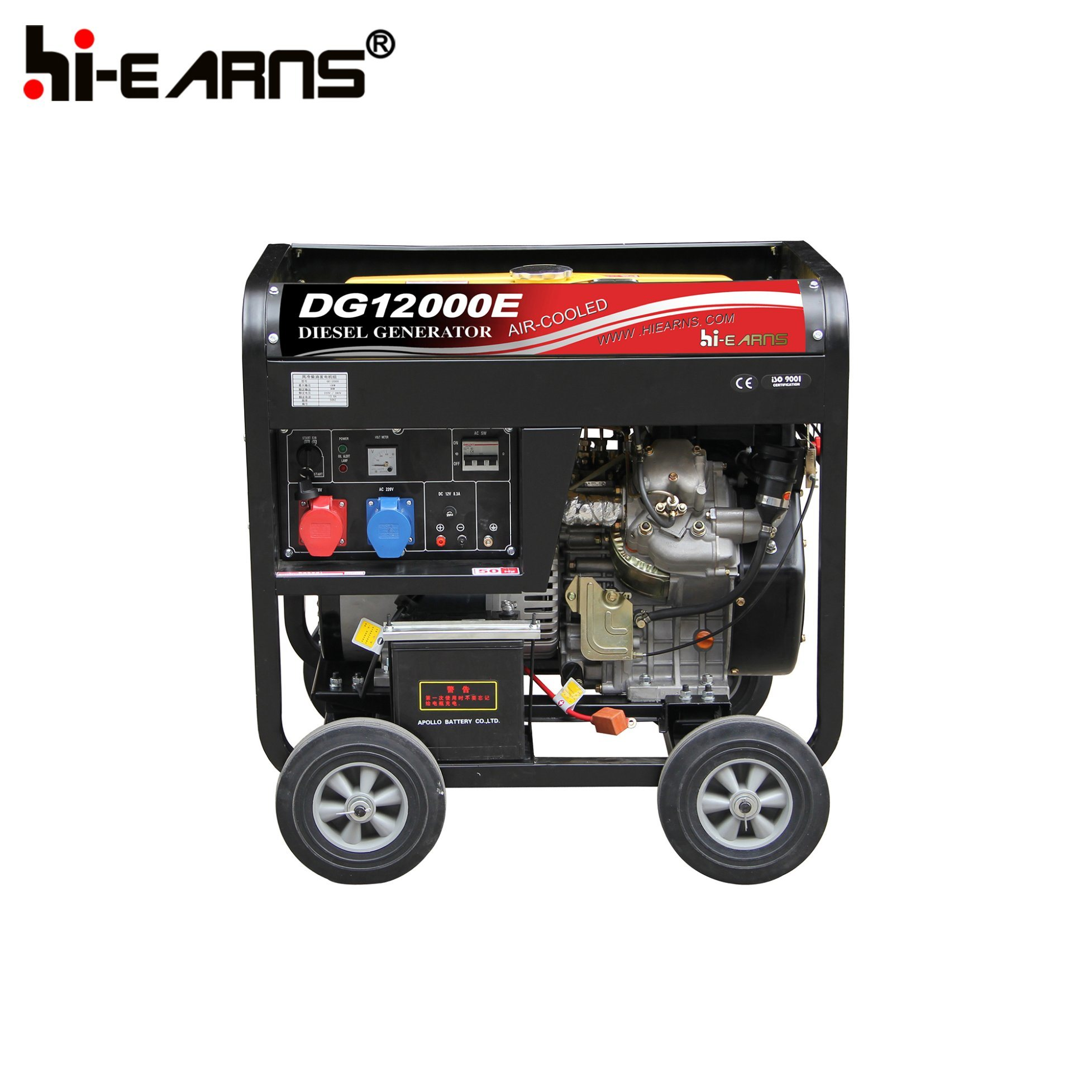 China 8 5kw Air Cooled Two Cylinder Diesel Generator Set Portable