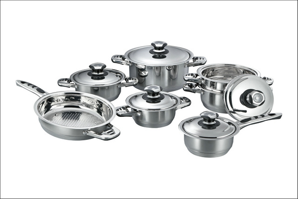 High Quality 12PCS Stailess Steel Cookware Set (CS112002)