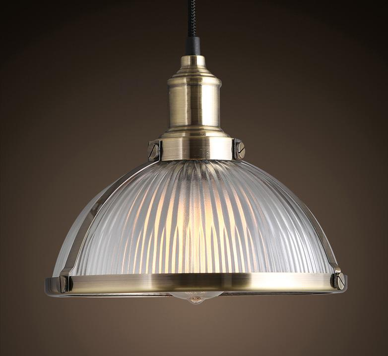Metal Pendant Lamp with Glass Shade (WHG-140)