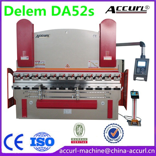 80t-2500 CNC Servo Steel Bending Machine 60 Tons with 4 Axis (Y1, Y2, X, W) Delem Da52s CNC System and Safety System