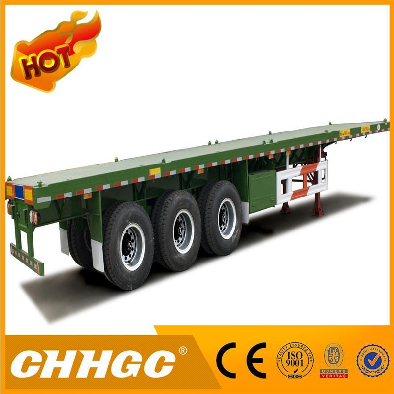 China Manufacturer 2 Axle Container Flatbed Semi Trailer for Sale