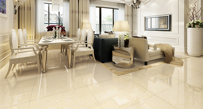 Yellow Crystal Double Loading Polished Porcelain Tile