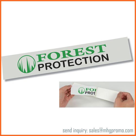 Custom White PVC Adhesive Sticker
