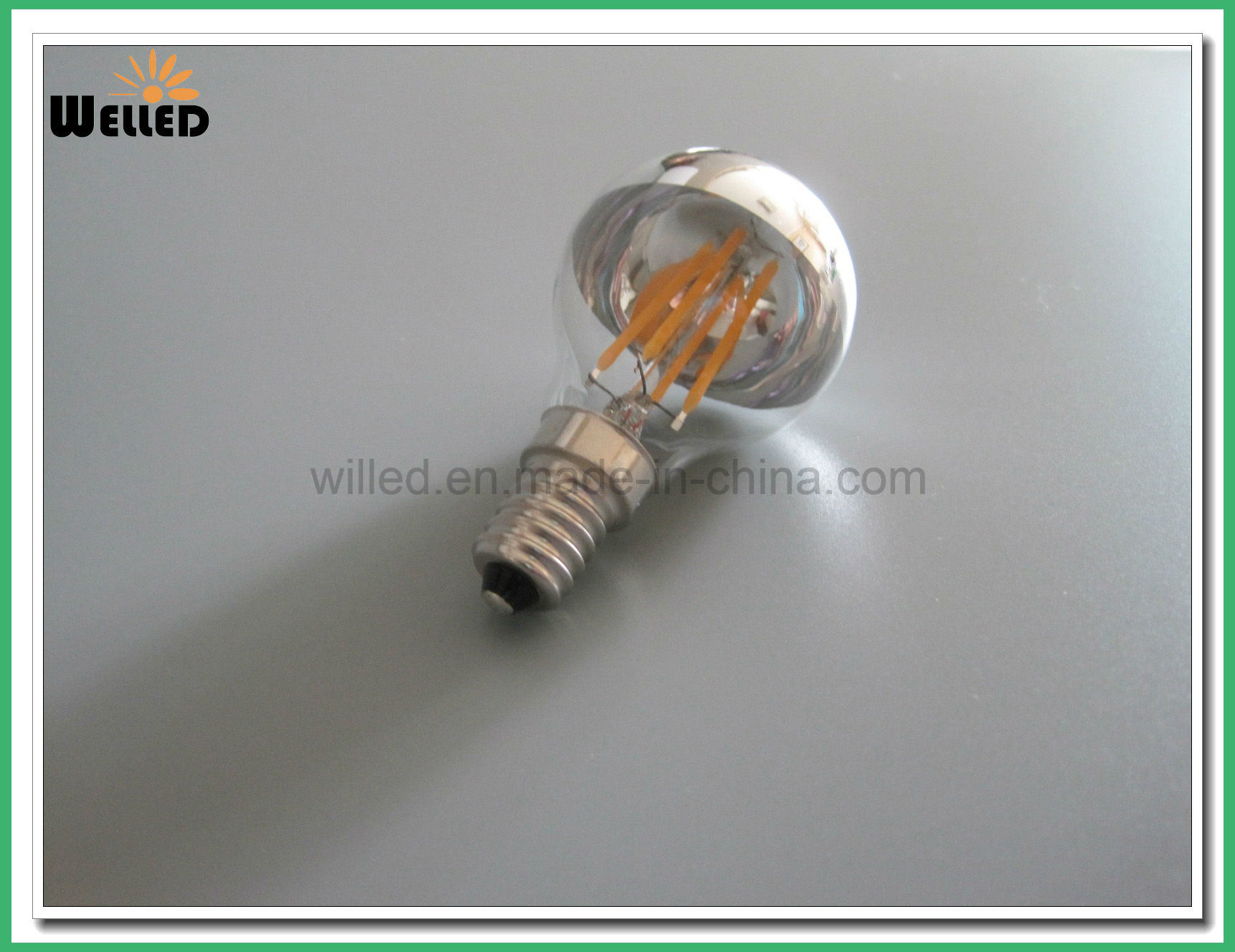 Mirror A60 E27 LED Filament Bulb Light 4W 6W 8W Dimmable 220V 110V