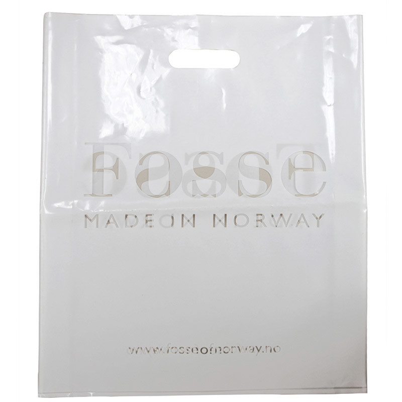 2015 Plastic Bag with Die Cut Handle, Printed Bag, Shopping Bags with Customized Design (HF-529)