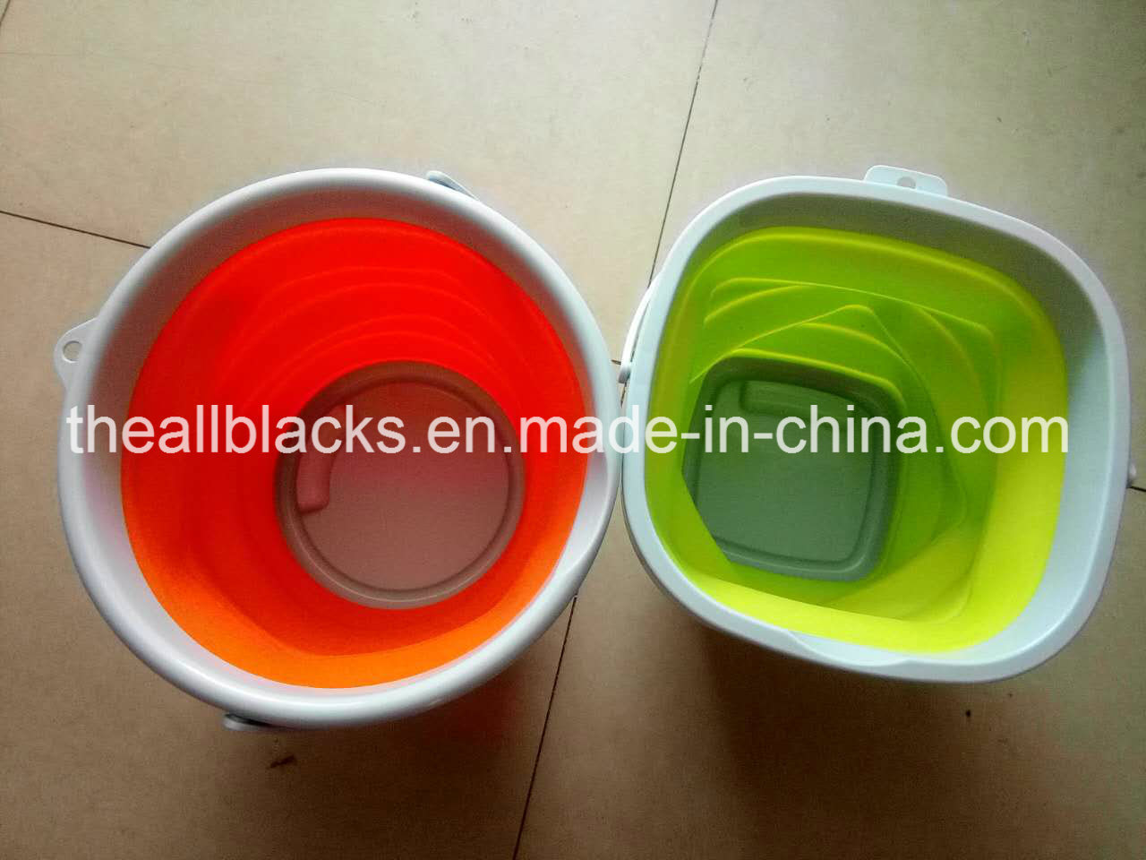 Silicone Folding Fish Bucket-Fashion Folding Fishing Barrel-Fishing Tackle-Fishing Tool